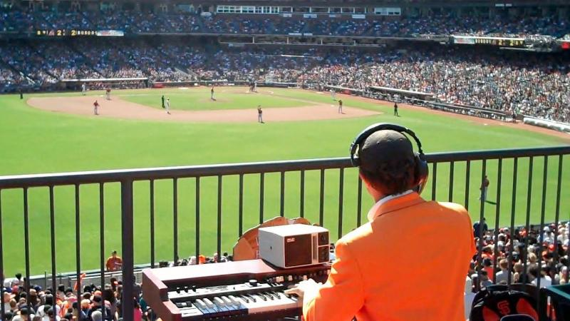 Steve Hogan plays at AT&T Park, September 2013.