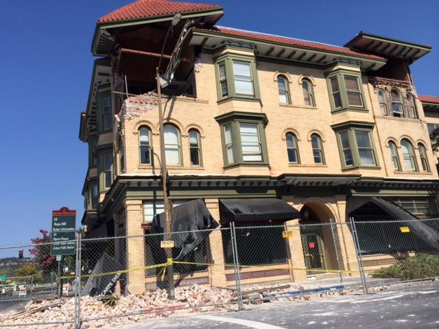 Damage in downtown Napa after Sunday's earthquake