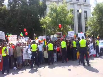 Protest At US Africa Summit In Washington DC