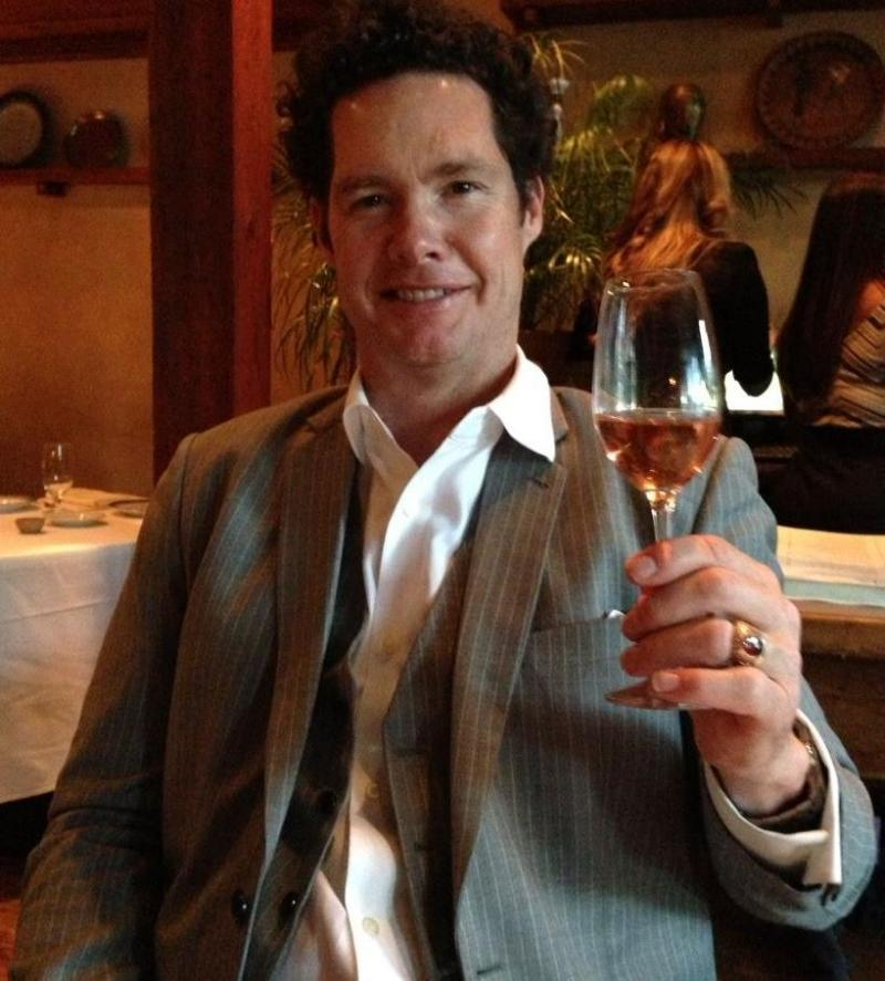 Bret Bocook toasts his wife, Laura, before his diagnosis with a second brain tumor.