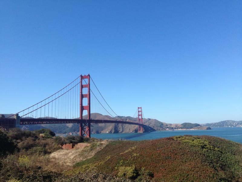 The Golden Gate Bridge, standing strong.