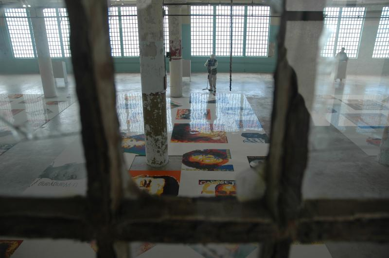 "The peice ""Trace"" from the show @Large: Ai Weiwei on Alcatraz."