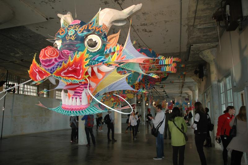 """With Wind,"" an instillation at Alcatraz by the Chinese dissident, Ai Weiwei."