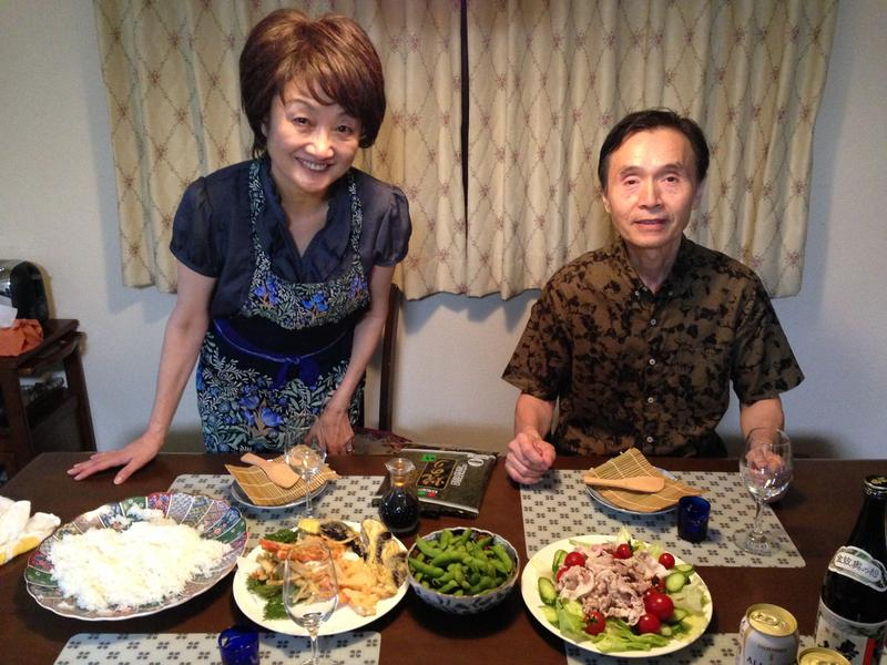 Michiyo and Mikio Kainuma at home, Fukushima City