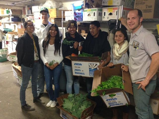 Mission High School vendors with Bi-Rite Market staff.