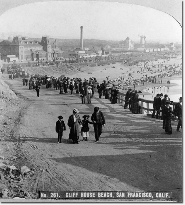 View of San Francisco's Ocean Beach circa 1905