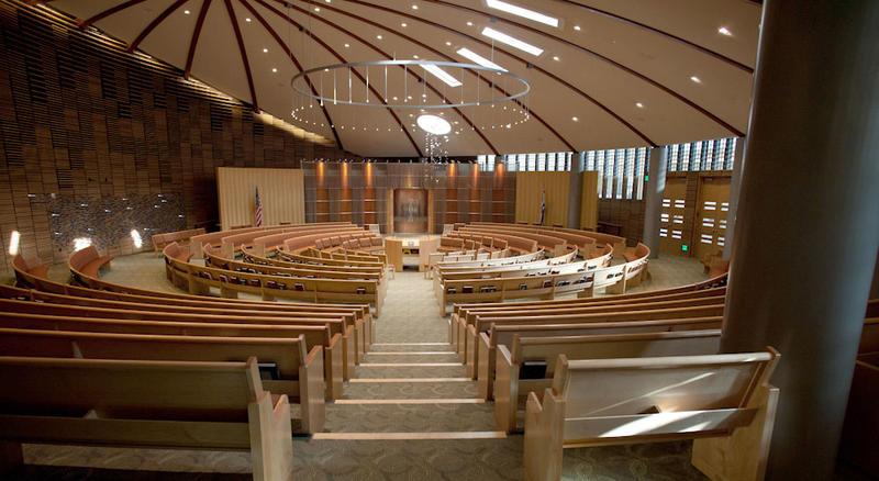 The inside of Kol Shofar's sanctuary