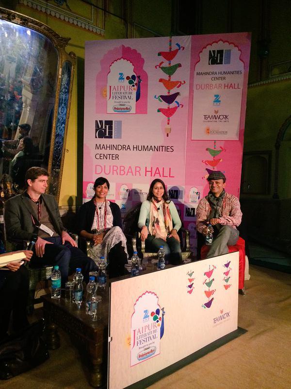 Sandip Roy Jaipur Lit Fest KALW - Lit design 2015