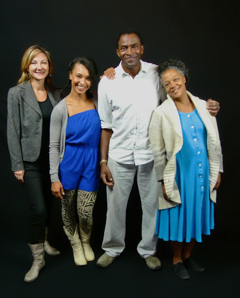 The cast of 'Tree' by Julie Hebert,  at SF Playhouse, with (from left): Susi Damilano, Tristan Cunningham, Carl Lumbly and Cathleen Riddley...