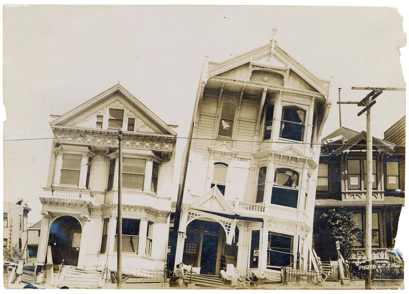 Residential block following 1906 earthquake