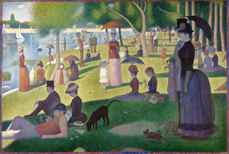 A Sunday Afternoon on the Island of La Grande Jatte by Georges Seurat, the painting that was the inspiration for the musical Sunday in the Park with George.