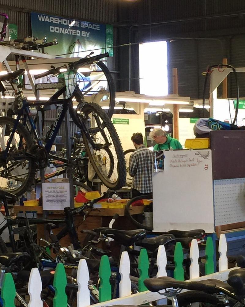Inside Good Karma bike shop