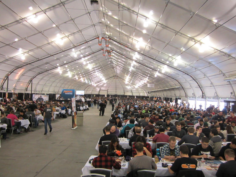 The convention hall, hosting hundreds of games at once.