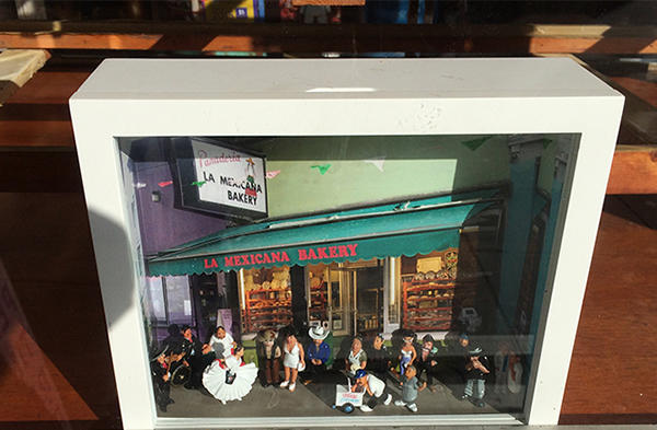 One of Mission artist Cindy DeLosa's dioramas