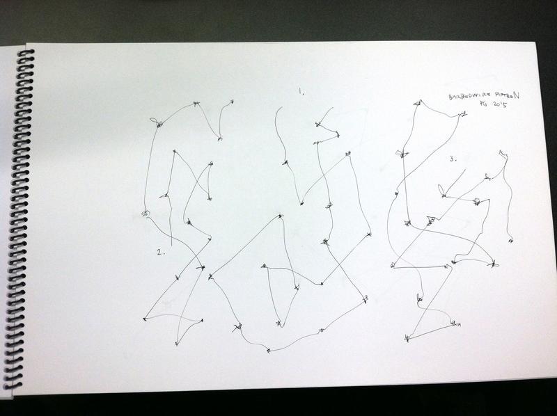 Graphic score: Barbed Wire #15