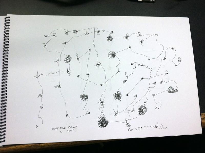 Graphic score: Barbed Wire #18