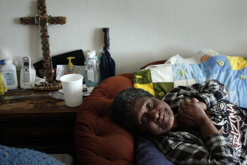 Geneva Eaton, a Hacienda resident who struggled for years with mice and rodents in her apartment
