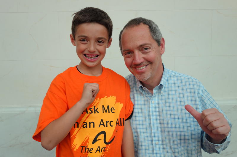 "SF official Bevan Dufty with Sydney in The Arc SF's short video ""Bullying Stops With Us!"""