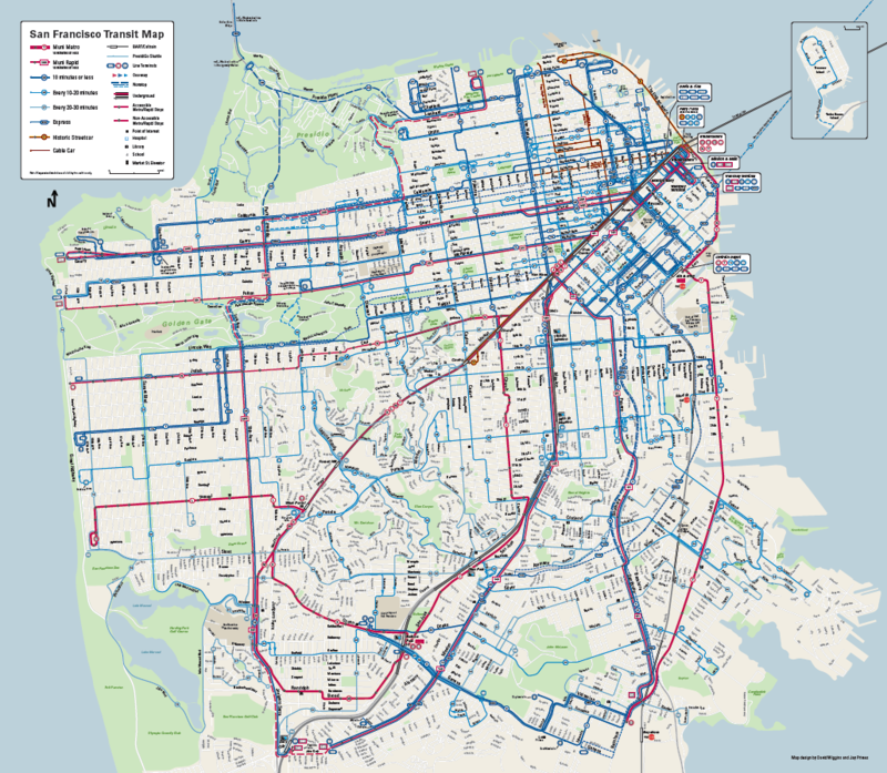 The new Muni map, created by Jay Primus and David Wiggins