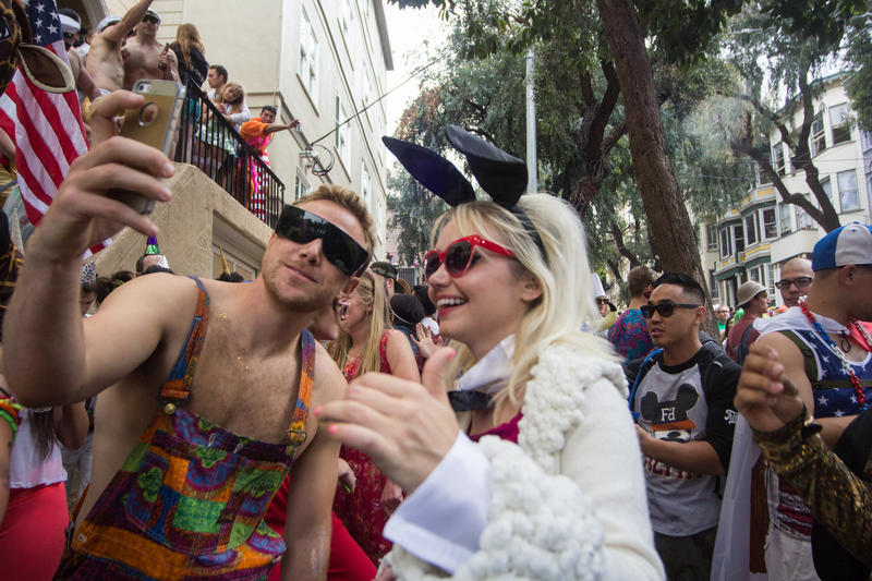 With reports of about roughly 50,000 attendees this year, the annual Bay to Breakers event served as the meeting place for a cross-section of people from across the Bay Area and beyond.