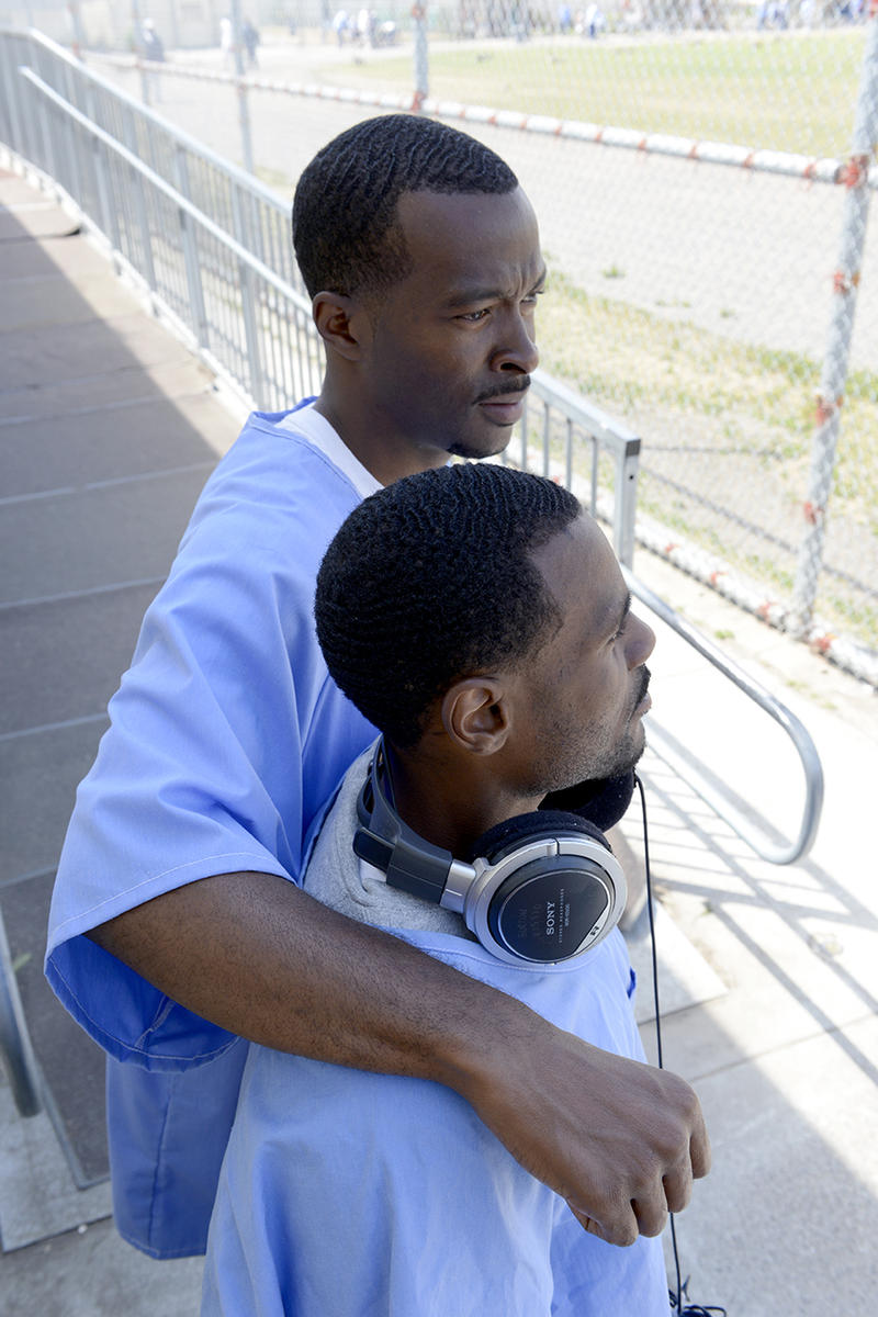 Sha Wallace Stepter and JB Burton in San Quentin Yard