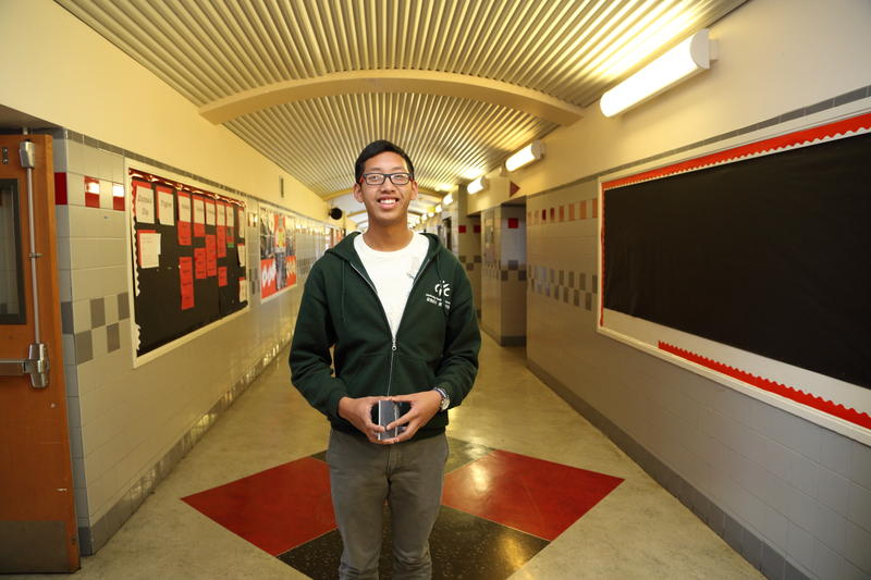 Bayview Youth Advocate John Vuong prepares to outreach to other students about the Bayview Youth Summit.