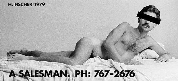 Hal Fischer  ~  A Salesman, 1979, 2015  ~  Billboard installation