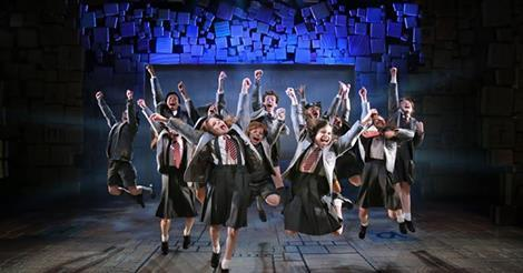 The Broadway cast of 'Matilda, the Musical'...