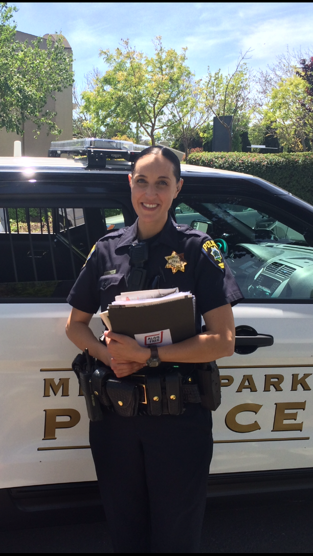 Officer Mary Ferguson works on Menlo Park truancy, thanks to a Facebook-sponsored salary