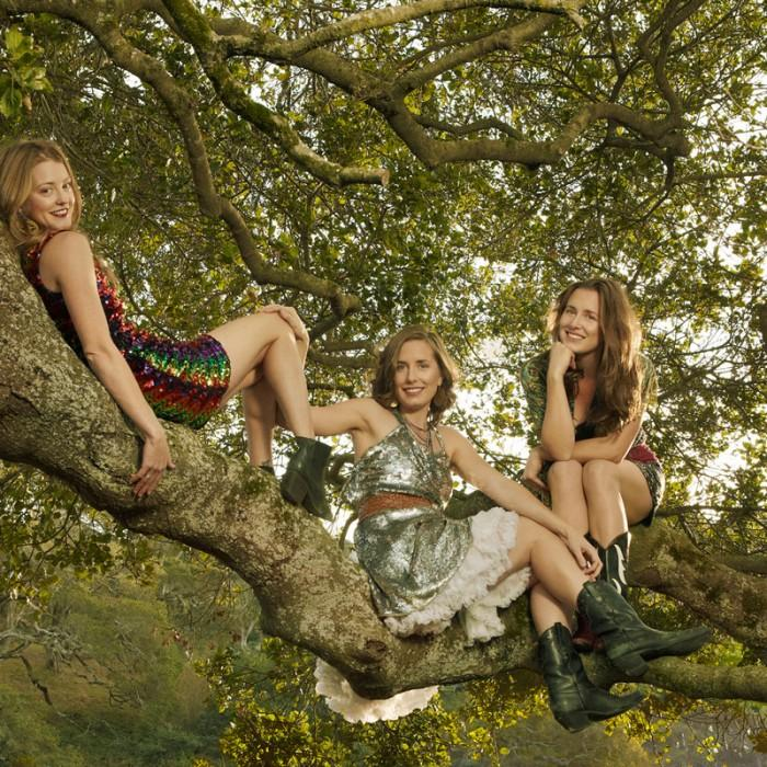 The T Sisters, hanging around a grove in Bolinas, CA.