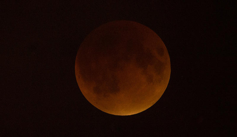 The rare blood supermoon