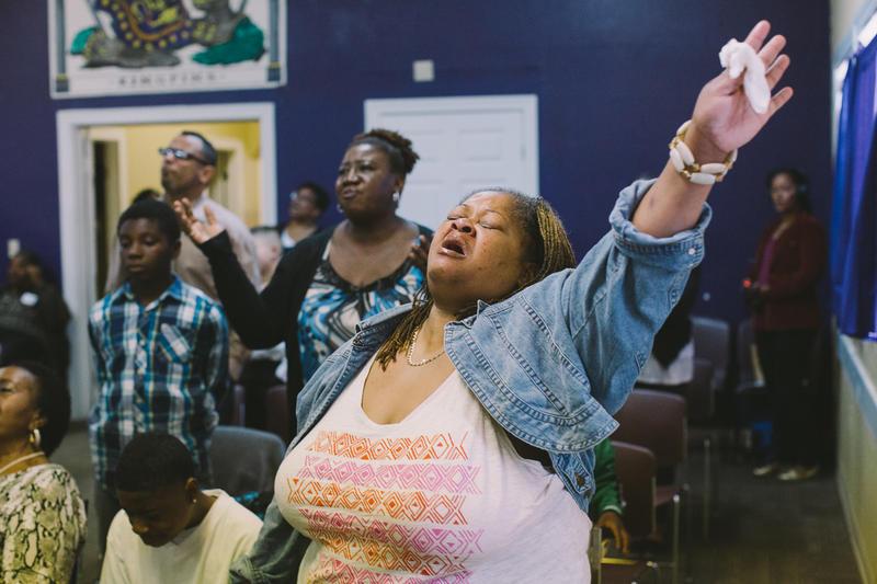 Churchgoer at New Revelation Community Church