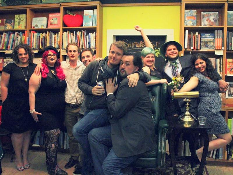 The assembled writers and creators behind  Shipwreck