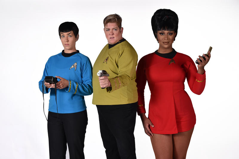 Amber Sommerfield, Leigh Crow, and Honey Mahogany in Star Trek Live