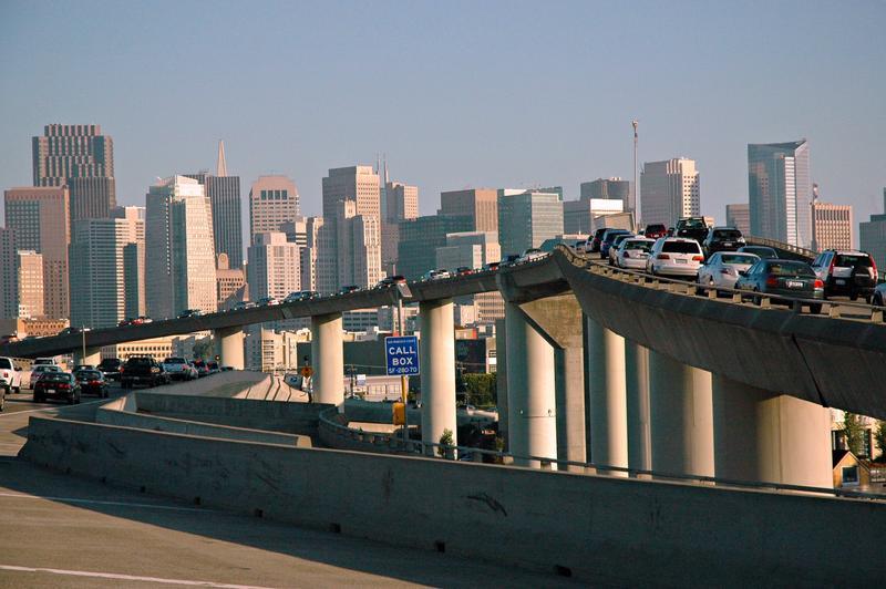 Traffic jam in San Francisco