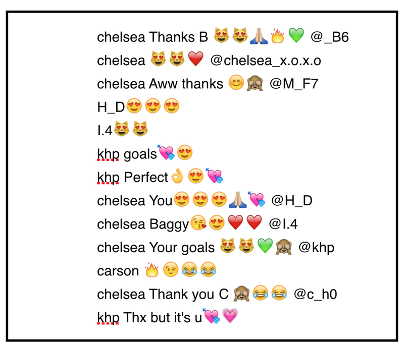 Seven 13-year olds react to a photo on Instagram