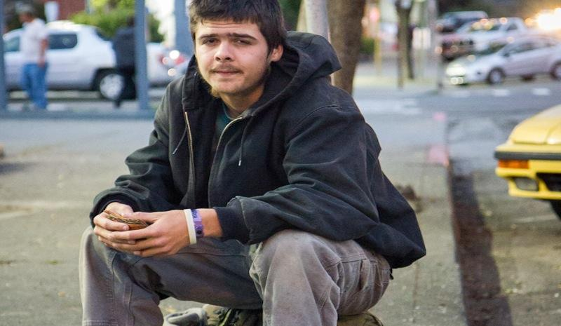 Gabriel, 19, traveled to Garberville, Calif in Humboldt County hoping to find work trimming marijuana, but after a month and a half, he still hasn't been hired.