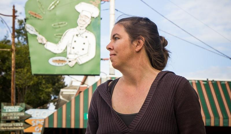 Kristen Nevedal co-founded the Emerald Growers Association, a group of 400 marijuana farmers from across California. The Garberville resident says that trimmigrants are straining her small town.
