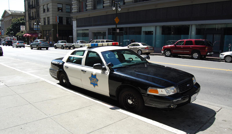 San Francisco Police Car, Manoel Netto, used under CC license, cropped and resized