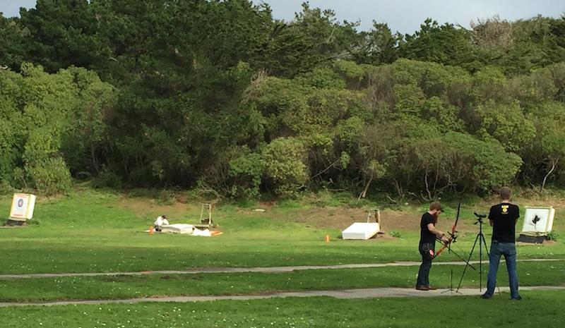 Scott Bullard, SF Archery Shop and James Rowlands, KALW Sound Engineer