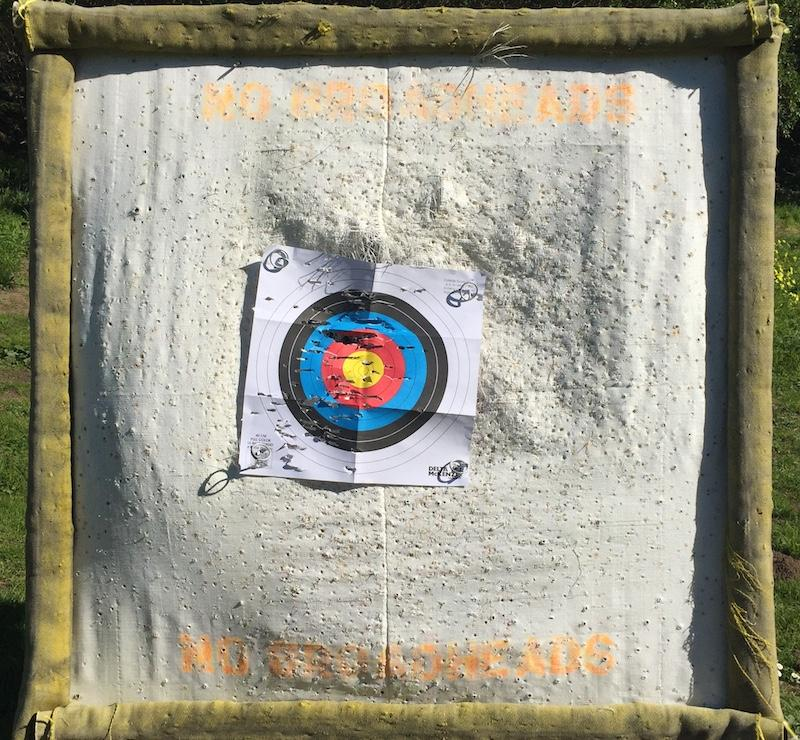 One of the target bales