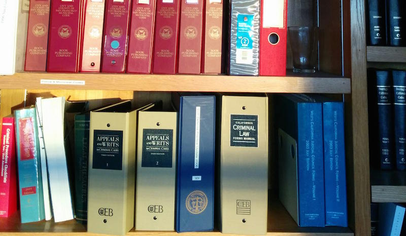 Books at the San Francisco Public Defender's Office