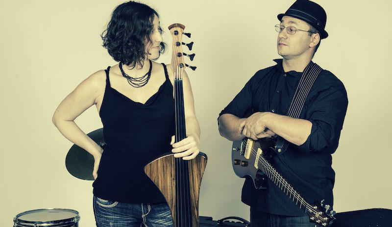 Rebecca Roudman and David Eckl of the band Dirty Cello
