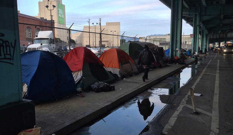 Division Street homeless encampment.