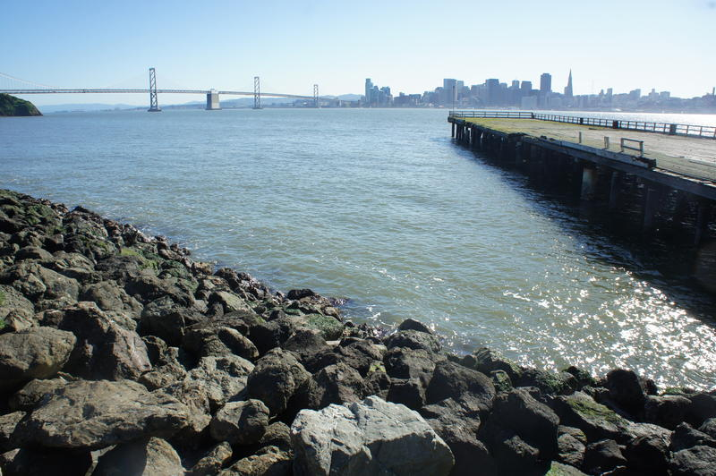 Beneath the rugged beauty of Yerba Buena Island, you immediately see stunning views of the Bay Bridge and San Francisco to the southwest