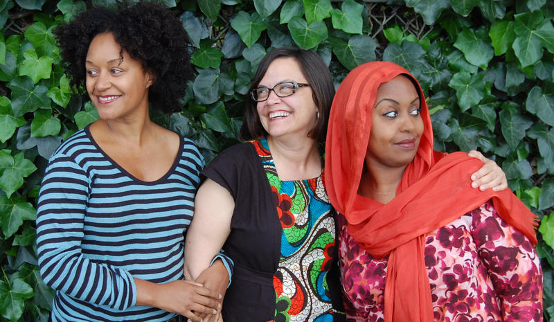 Left to right: Leila Day, Julie Caine and Hana Baba.