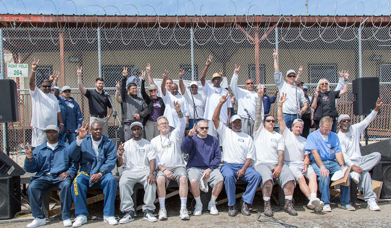 A Day of Peace at San Quentin Prison. Photo by Peter Merts, courtesy of Bread & Roses