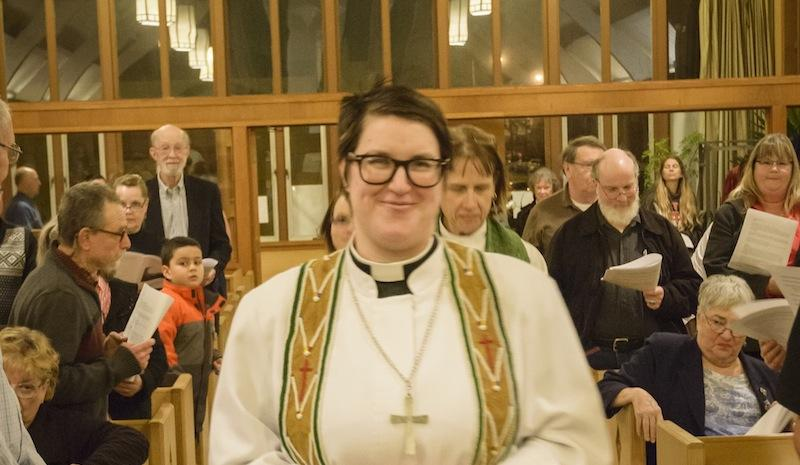 Pastor Megan Rohrer at Grace Evangelical Lutheran Church