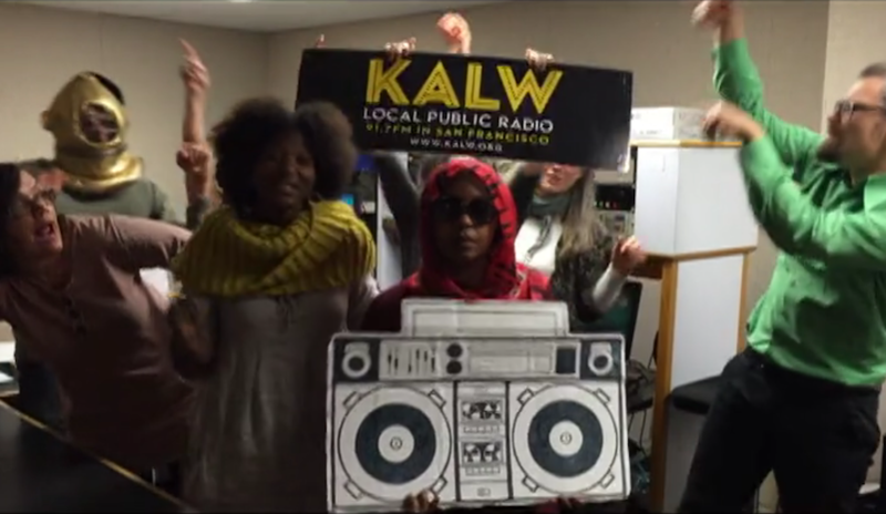 KALW gets down in the newsroom