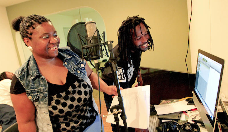 Aquiela Lewis and Adonis Birch collaborate on a song